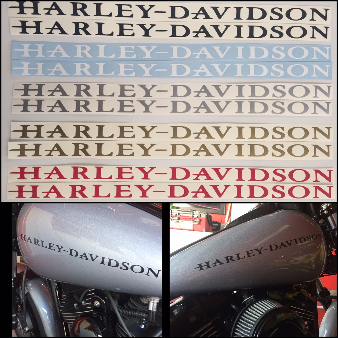 Harley davidson gas tank decals set of two free shipping