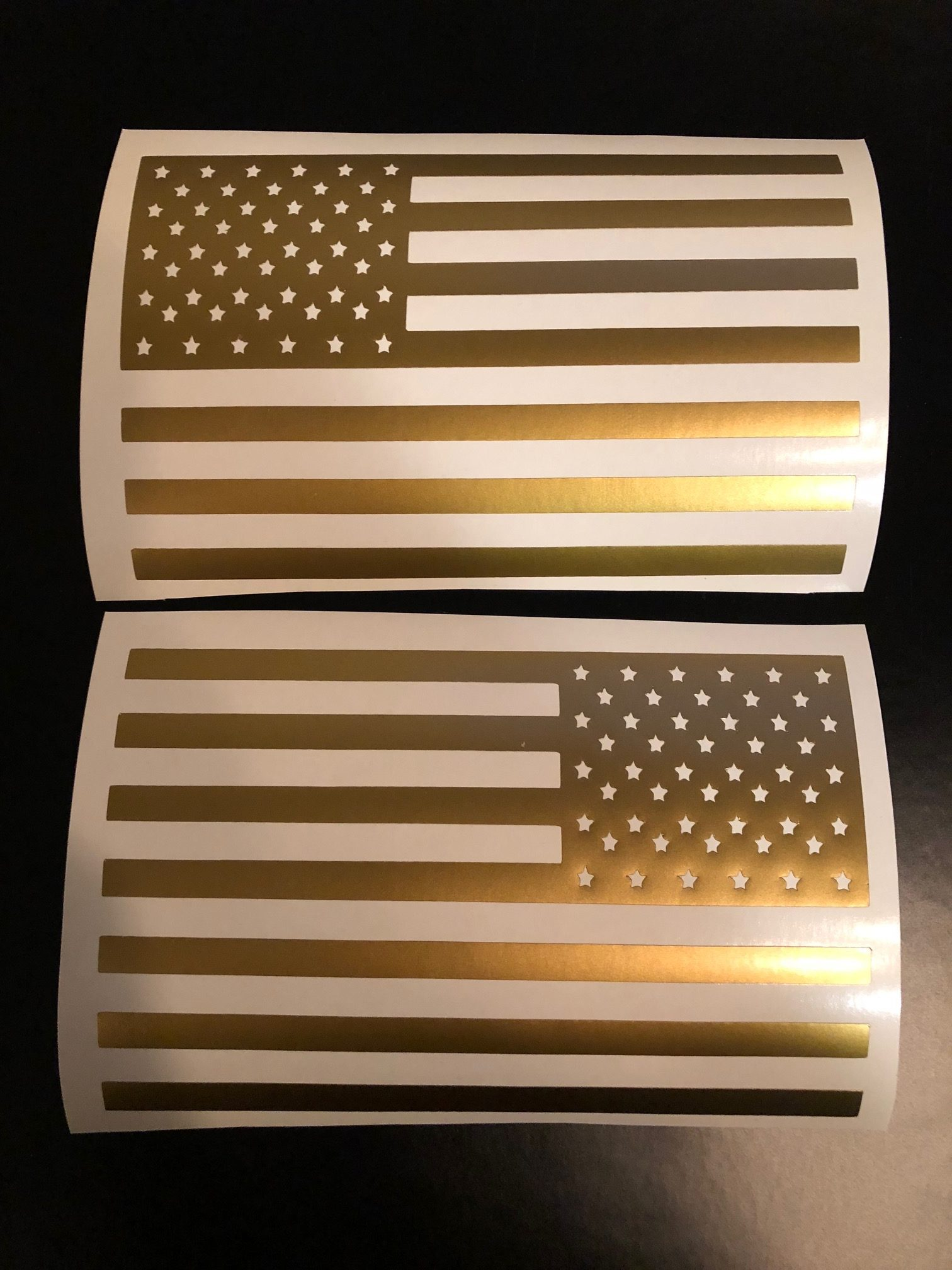 American Flag Battery/Fuse Box Decal