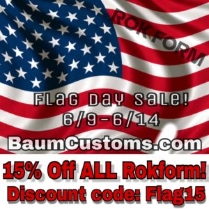 Flag Day Sale Starting NOW! 15% Off Rokform!