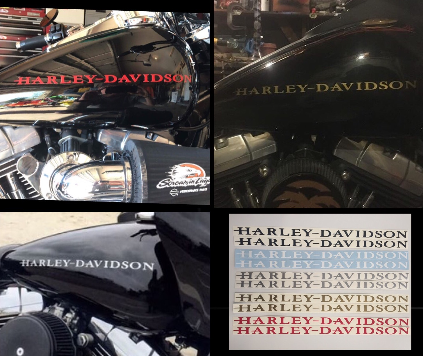 Harley Davidson Gas Tank Decals Set Of Two Free Shipping Baum Customs
